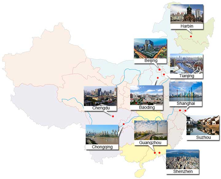 populated cities in China